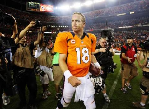 Peyton Manning hopes to walk off as a Super Bowl champion at the end of the season. (Via US Presswire)