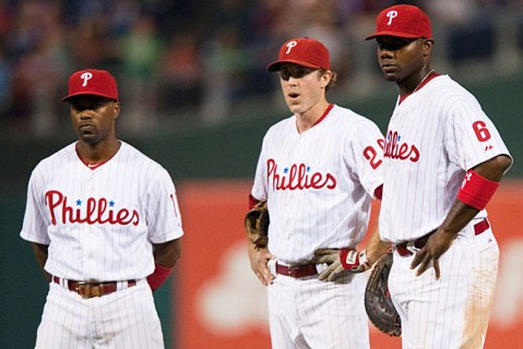 Jimmy Rollins, 34, Chase Utley, 34, and Ryan Howard, 33, will try to make some more magic in Philly (Via SI)