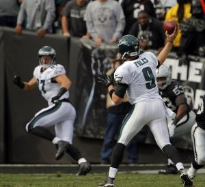 Nick Foles has stepped in as the starting Quarterback  during Michael Vick's injury (Via AP)