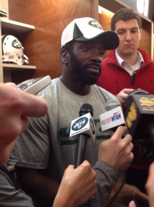 Ed Reed meets with the media Thursday afternoon. (Via Kimberly Martin/Newsday)