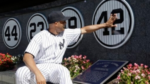 Mariano Rivera had his number retired to mark the end of an illustrious career (Via AP)