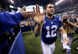 Andrew Luck leads his troops into Tennessee for a Thursday night matchup (Via AP)
