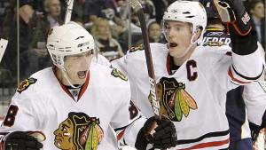The Blackhawks lead the league in goals per game, led by Patrick Kane and Jonathan Toews (Via Sports Talk Florida)