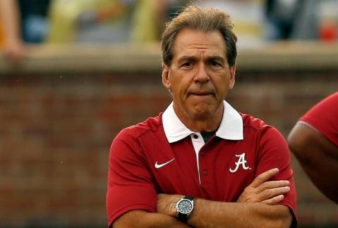 Alabama's Nick Saban is one coach who would not like to see the new rule put into place (Via AP)