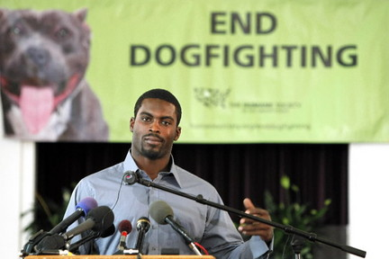 In recent years, Michael Vick has taken a stand against dogfighting. (Via AP)