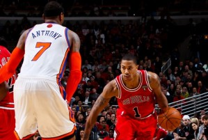 Could Carmelo Anthony be joining forces with Derrick Rose? (Via ChiCitySportsFan)