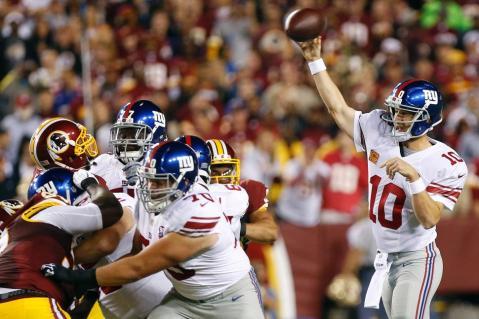 Eli's Back! The Giants quarterback dismantled the Redskins defense this week. (Via NYDN)
