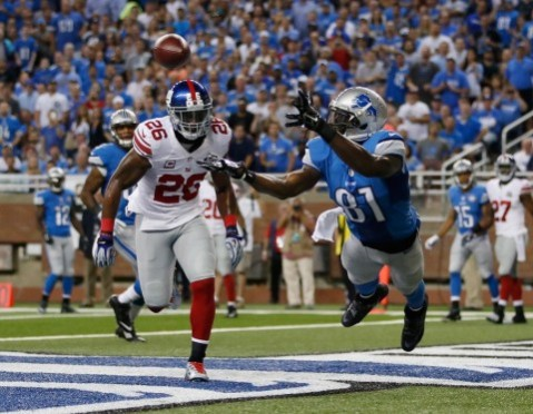Calvin Johnson looks to get back in the end zone this week vs. the Packers (Via Getty)