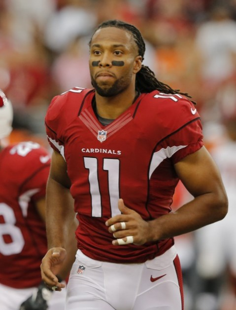 Larry Fitzgerald is nowhere to be found this season. (Via AP)