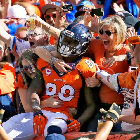 Demaryius Thomas had a lot to celebrate this week after setting a franchise record this week (Via AP)