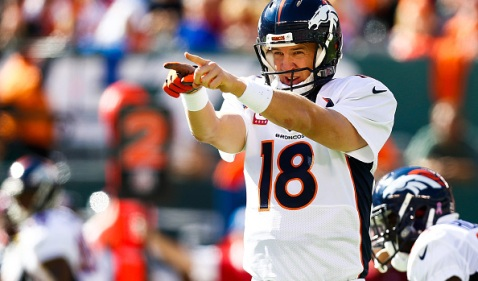 Peyton Manning will go for the NFL all time touchdowns record this week (Via CBS Sports)