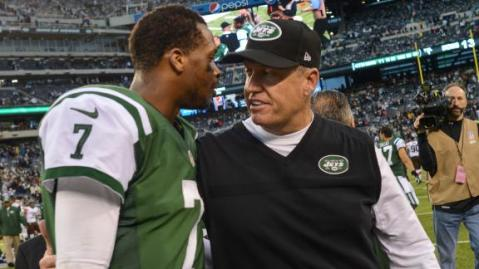 Rex Ryan was forced to start Geno Smith this week. (Via AP)