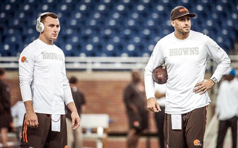 The Manziel Hoyer controversy has Cleveland on the edge of its seat (Via AP)
