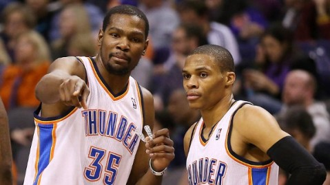 Kevin Durant and Russell Westbrook will have to lead if OKC wants to win a championship (Via AP)