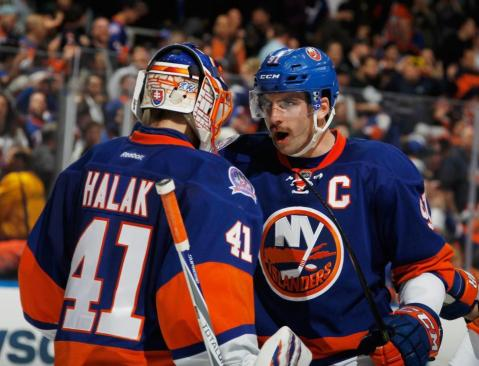 Jaroslav Halak and John Tavares have been a huge part of the Islanders success this season. (Via Bruce Bennett/Getty Images)