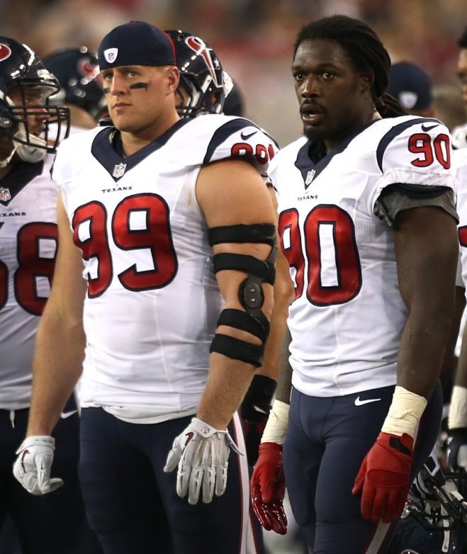 JJ Watt and Jadeveon Clowney