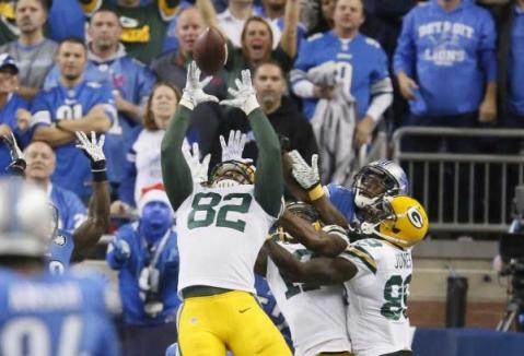 Richard Rodgers made the game winning catch last week, but can he repeat his performance in week 14 against the Cowboys? Probably not. (Via AP)